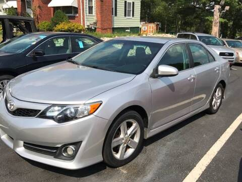 2013 Toyota Camry for sale at Pat's Auto Sales in Johnston RI