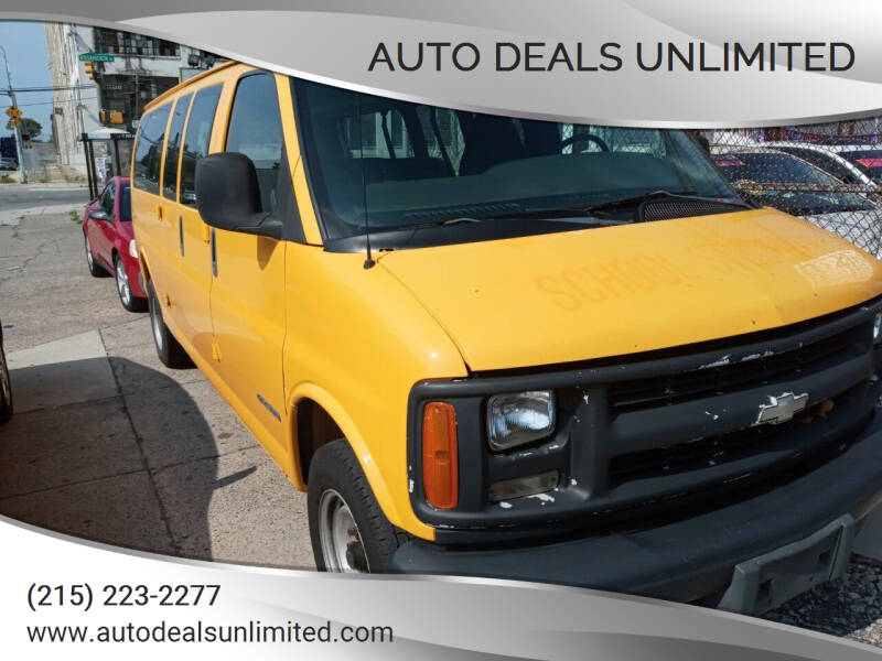 2002 Chevrolet Express Passenger for sale at AUTO DEALS UNLIMITED in Philadelphia PA