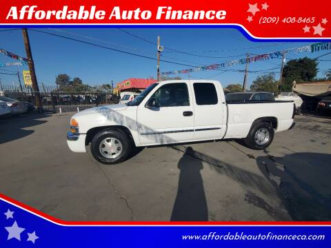 2004 GMC Sierra 1500 for sale at Affordable Auto Finance in Modesto CA