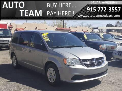 2018 Dodge Grand Caravan for sale at AUTO TEAM in El Paso TX