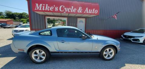 2008 Ford Mustang for sale at MIKE'S CYCLE & AUTO in Connersville IN