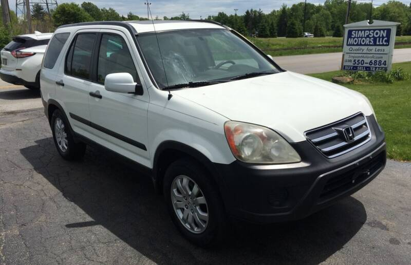 2006 Honda CR-V for sale at SIMPSON MOTORS in Youngstown OH