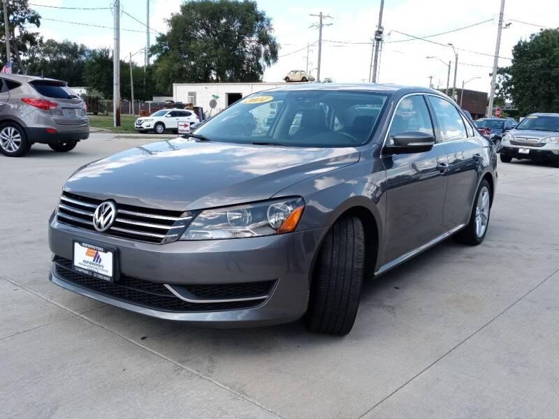 2014 Volkswagen Passat for sale at EURO MOTORS AUTO DEALER INC in Champaign IL