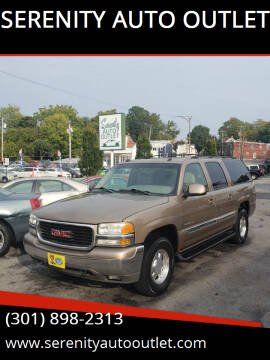 2003 GMC Yukon XL for sale at SERENITY AUTO OUTLET in Frederick MD