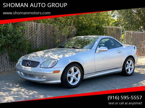 2003 Mercedes-Benz SLK for sale at SHOMAN AUTO GROUP in Davis CA