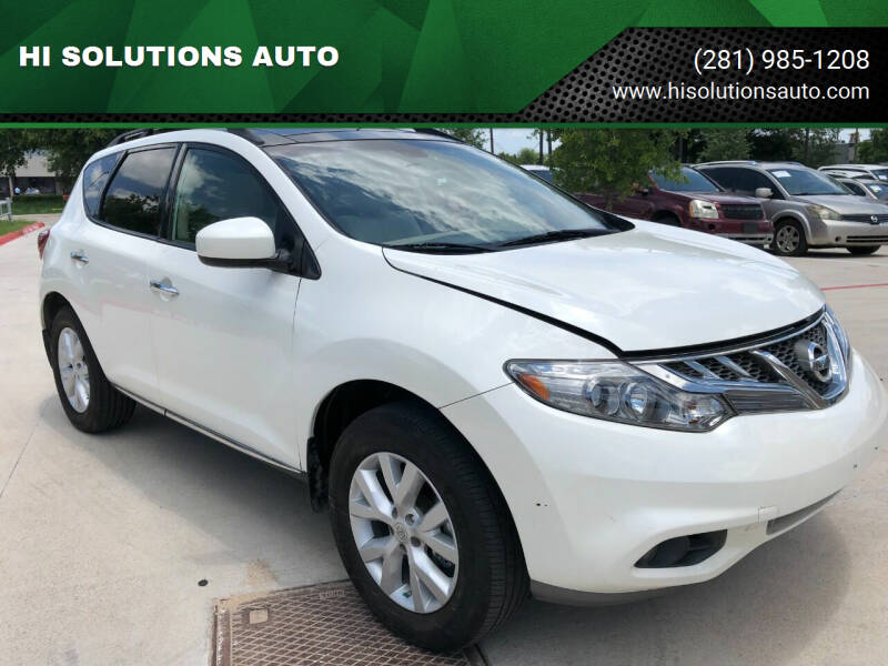 2012 Nissan Murano for sale at HI SOLUTIONS AUTO in Houston TX