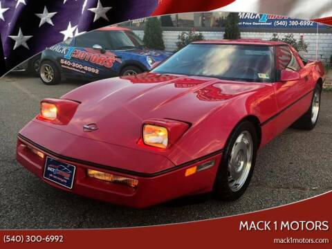 1987 Chevrolet Corvette for sale at Mack 1 Motors in Fredericksburg VA