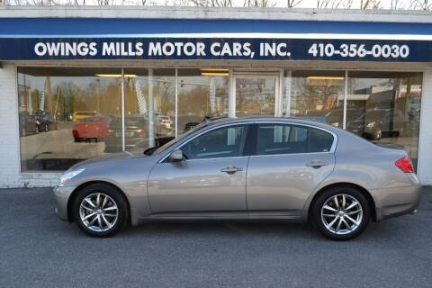 2007 Infiniti G35 for sale at Owings Mills Motor Cars in Owings Mills MD