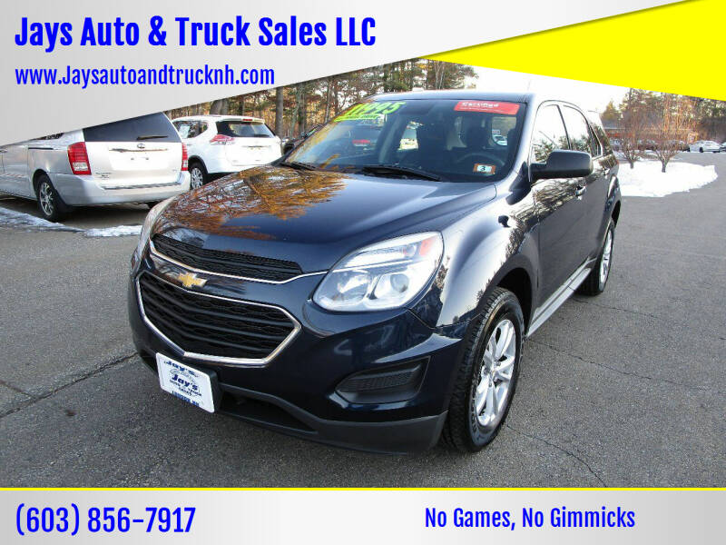 2016 Chevrolet Equinox for sale at Jays Auto & Truck Sales LLC in Loudon NH