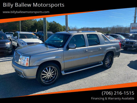 2002 Cadillac Escalade EXT for sale at Billy Ballew Motorsports in Dawsonville GA