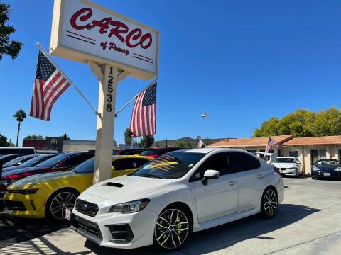 2020 Subaru WRX for sale at CARCO OF POWAY in Poway CA