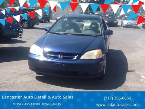 2001 Honda Civic for sale at Lancaster Auto Detail & Auto Sales in Lancaster PA