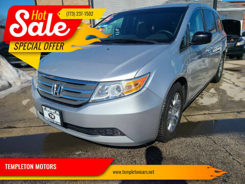 2012 Honda Odyssey for sale at TEMPLETON MOTORS in Chicago IL