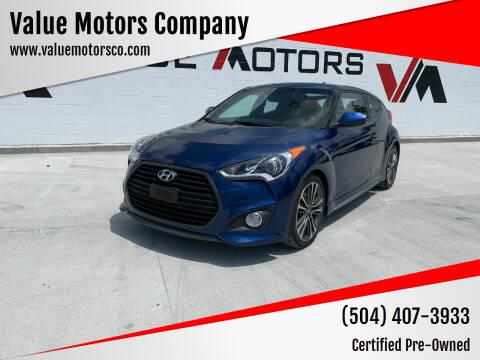 2016 Hyundai Veloster for sale at Value Motors Company in Marrero LA