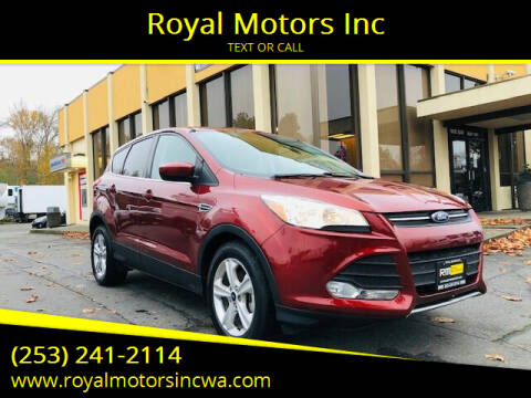 2014 Ford Escape for sale at Royal Motors Inc in Kent WA