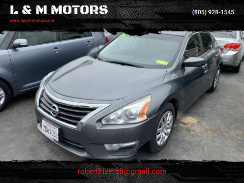 2014 Nissan Altima for sale at L & M MOTORS in Santa Maria CA