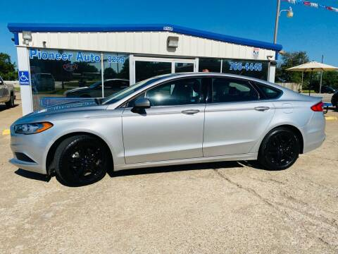 2018 Ford Fusion for sale at Pioneer Auto in Ponca OK