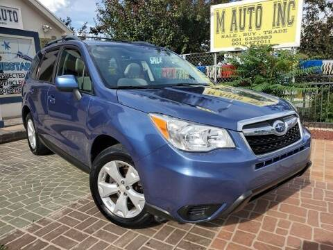 2015 Subaru Forester for sale at M AUTO, INC in Millcreek UT