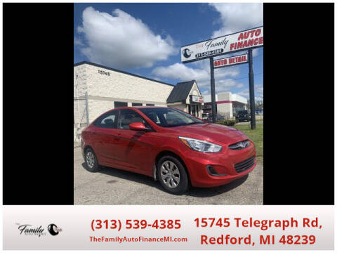 2016 Hyundai Accent for sale at The Family Auto Finance in Redford MI