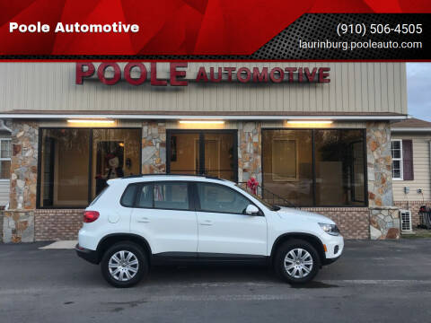 2017 Volkswagen Tiguan for sale at Poole Automotive in Laurinburg NC