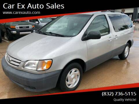 2002 Toyota Sienna for sale at Car Ex Auto Sales in Houston TX
