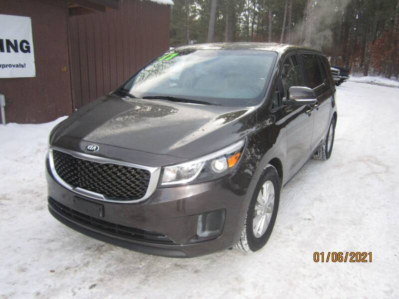 2017 Kia Sedona for sale at SUNNYBROOK USED CARS in Menahga MN