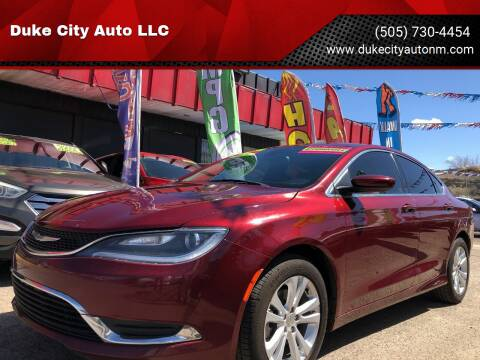 2015 Chrysler 200 for sale at Duke City Auto LLC in Gallup NM
