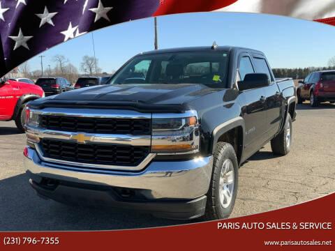 2018 Chevrolet Silverado 1500 for sale at Paris Auto Sales & Service in Big Rapids MI