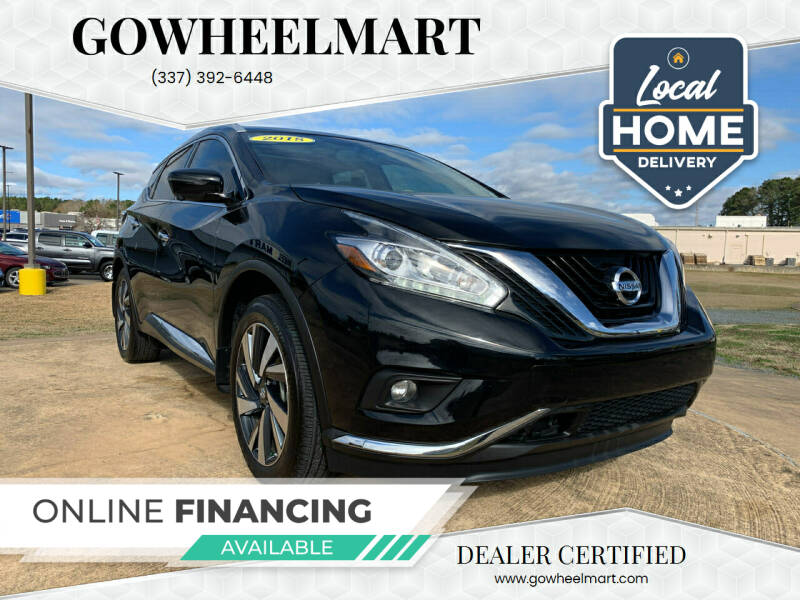 2018 Nissan Murano for sale at GoWheelMart in Leesville LA