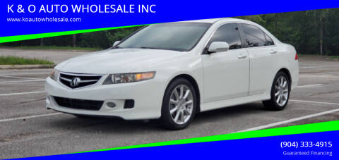 2008 Acura TSX for sale at K & O AUTO WHOLESALE INC in Jacksonville FL