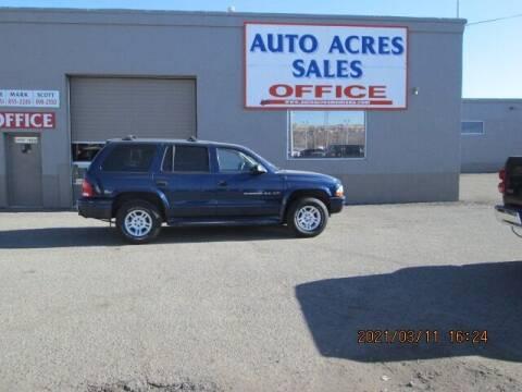 2001 Dodge Durango for sale at Auto Acres in Billings MT