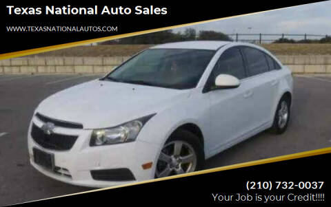 2014 Chevrolet Cruze for sale at Texas National Auto Sales in San Antonio TX