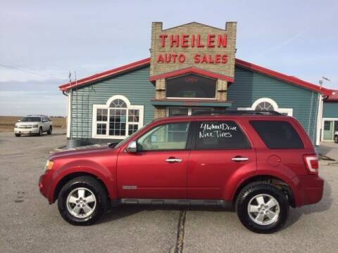 2008 Ford Escape for sale at THEILEN AUTO SALES in Clear Lake IA