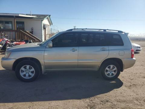 2001 Toyota Highlander for sale at PYRAMID MOTORS - Fountain Lot in Fountain CO