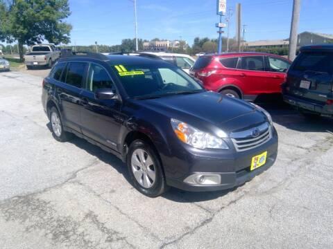 2011 Subaru Outback for sale at Regency Motors Inc in Davenport IA