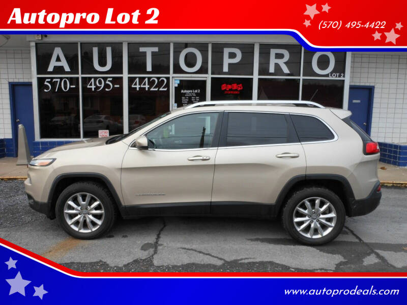 2014 Jeep Cherokee for sale at Autopro Lot 2 in Sunbury PA