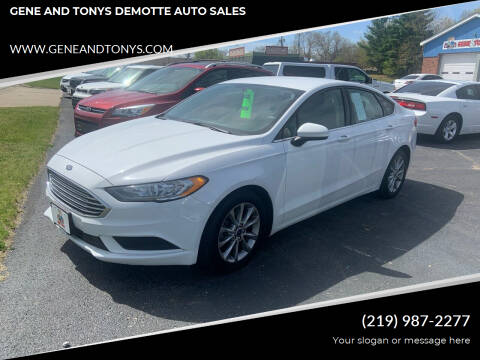 2017 Ford Fusion for sale at GENE AND TONYS DEMOTTE AUTO SALES in Demotte IN
