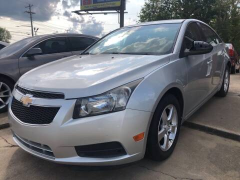2012 Chevrolet Cruze for sale at Wolff Auto Sales in Clarksville TN