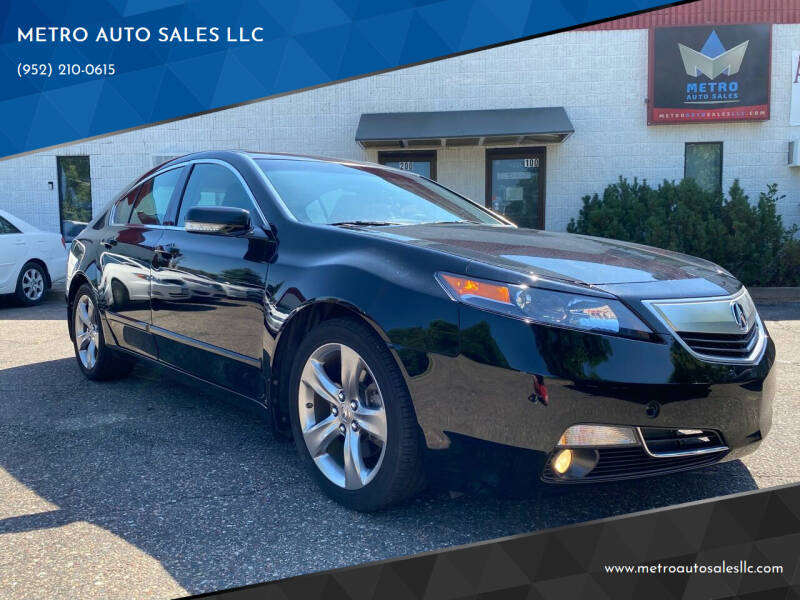 2012 Acura TL for sale at METRO AUTO SALES LLC in Blaine MN