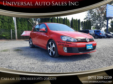 2012 Volkswagen GTI for sale at Universal Auto Sales Inc in Salem OR