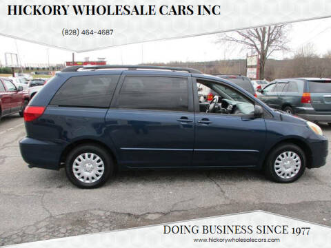 2004 Toyota Sienna for sale at Hickory Wholesale Cars Inc in Newton NC