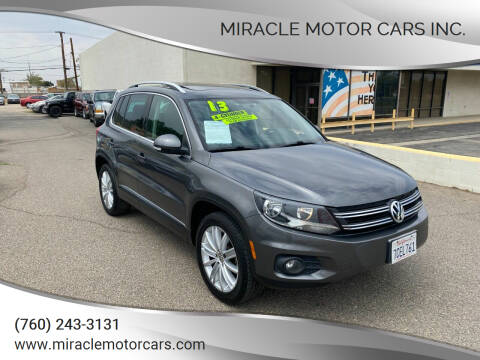 2013 Volkswagen Tiguan for sale at Miracle Motor Cars Inc. in Victorville CA
