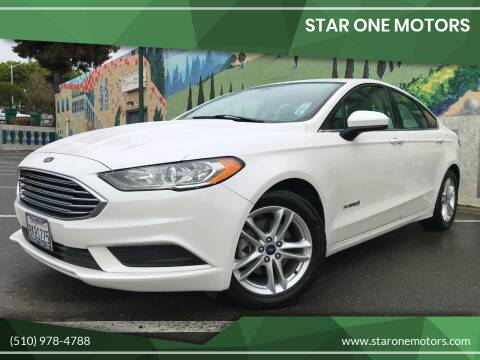 2018 Ford Fusion Hybrid for sale at Star One Motors in Hayward CA