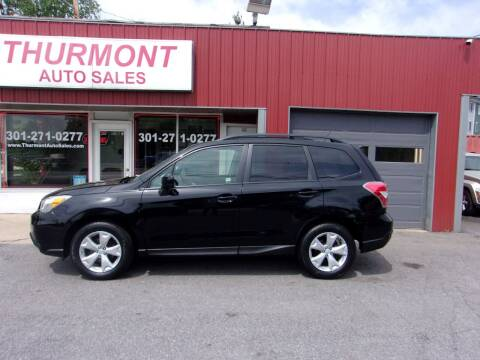 2015 Subaru Forester for sale at THURMONT AUTO SALES in Thurmont MD