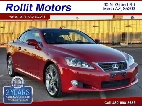2011 Lexus IS 250C for sale at Rollit Motors in Mesa AZ