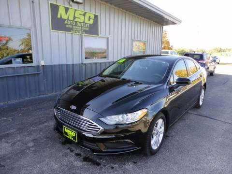 2018 Ford Fusion for sale at Moss Service Center-MSC Auto Outlet in West Union IA