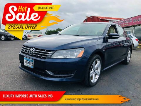 2013 Volkswagen Passat for sale at LUXURY IMPORTS AUTO SALES INC in North Branch MN