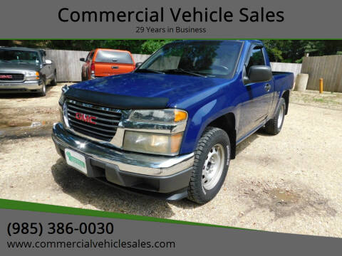 2009 GMC Canyon for sale at Commercial Vehicle Sales in Ponchatoula LA