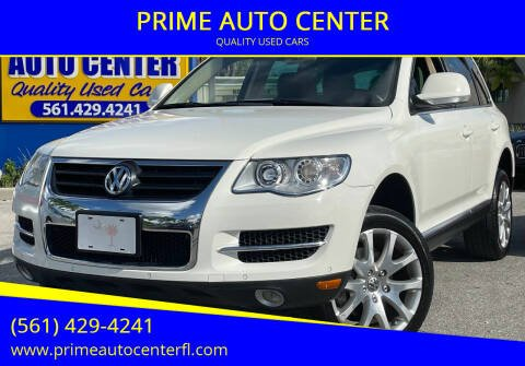 2010 Volkswagen Touareg for sale at PRIME AUTO CENTER in Palm Springs FL