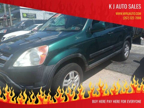 2002 Honda CR-V for sale at K J AUTO SALES in Philadelphia PA